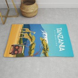 Tanzania travel poster Rug