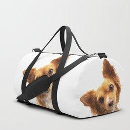 Curious Dog Portrait Duffle Bag