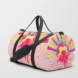 Rainbow rays soccer ball Duffle Bag