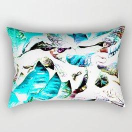 451 - Abstract leaves design Rectangular Pillow