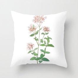 Oregano flower Throw Pillow