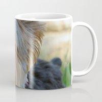 yorkie Mugs featuring Little Yorkie by IowaShots