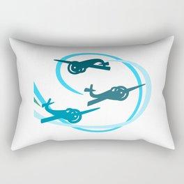 Blue Aerobatic Planes Rectangular Pillow