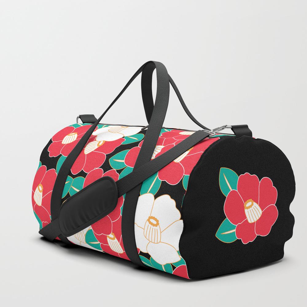 Shades Of Tsubaki - Red & Black Duffle Bag by Shiho DFL2918561