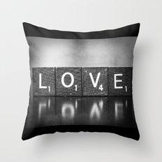 Love is a Beautiful Word - a fine art photograph Throw Pillow
