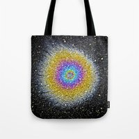big bang Tote Bags featuring Big Bang by PMLynch