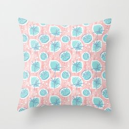 Atomic Lemonade_Rose Quartz Throw Pillow