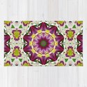 Daylily mandala 1, red-violet, cream and yellow by rvjdesigns