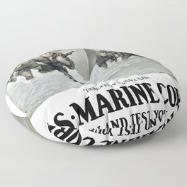 First To Fight -- US Marine Corps Floor Pillow