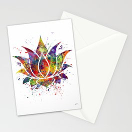 Lotus Flower 2 Watercolor Print Wall Art Wedding Gift Zen decor Stationery Cards