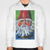 gnome Hoodies featuring Garden Gnome  by Juliette Caron