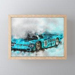 962 Le Mans 1987 Framed Mini Art Print