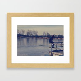 Frozen water Framed Art Print