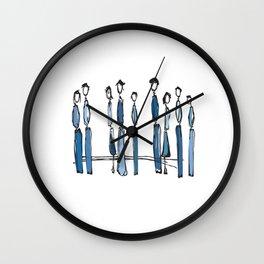 Blue People Wall Clock