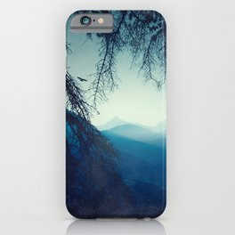 Blue Mountain Morning iPhone Case