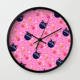 Chibi Moon Pattern / Sailor Moon Wall Clock