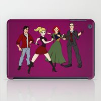 buffy iPad Cases featuring Cartoony Buffy and the gang by Nana Leonti