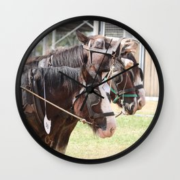 Clydesdales - Ready for Work Wall Clock