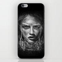 cara delevingne iPhone & iPod Skins featuring Cara Delevingne by Creadoorm