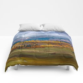 Fall in the Rockies Comforters