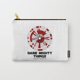 Dare Mighty Things Perseverance Mars Rover Landing Binary Code Pattern Carry-All Pouch