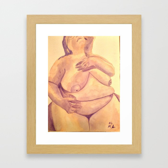 Safe In His Arms Framed Art Print
