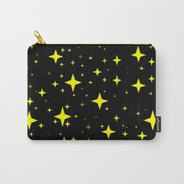 Bright Yellow Stars in Space , Cristmas Stars Carry-All Pouch