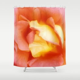 Light Orange and Pink Rose Shower Curtain