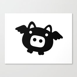 Pigs Will Fly (b&w) Canvas Print