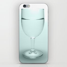 Glass of water iPhone Skin
