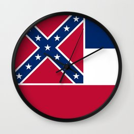 Mississippi State Flag, Authentic Version Wall Clock