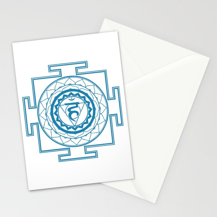 Sri Yantra Throat Chakra Stationery Cards