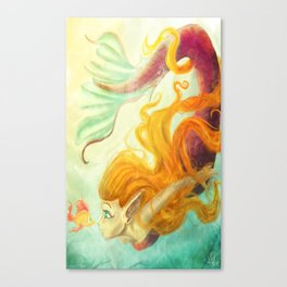 Coral's New Friend Canvas Print
