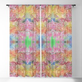 easter colors (for claire) Sheer Curtain