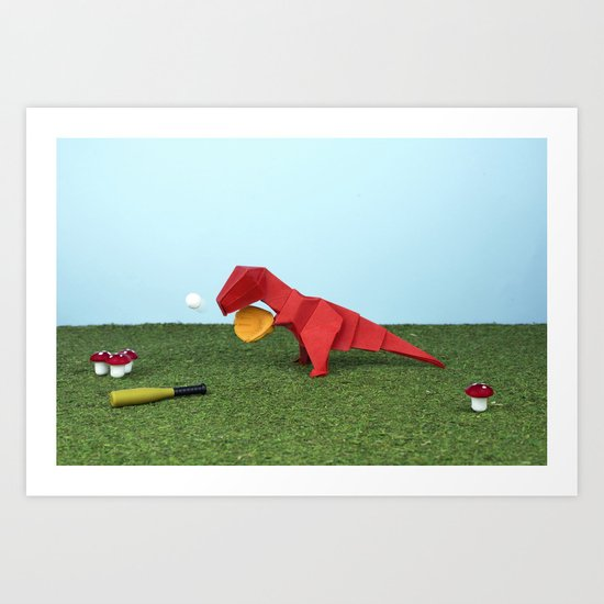 Yes T-Rex can! Art Print