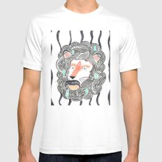 Listen to Your Lion SMALL White Mens Fitted Tee