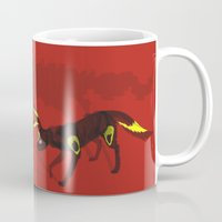 umbreon Mugs featuring Umbreon by Katie O'Meara