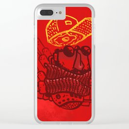 Hats n' Beards Clear iPhone Case