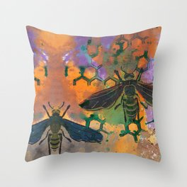 Insects that Fly Throw Pillow