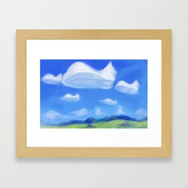 Catsky Framed Art Print