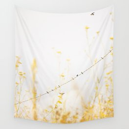 birds on a wire Wall Tapestry