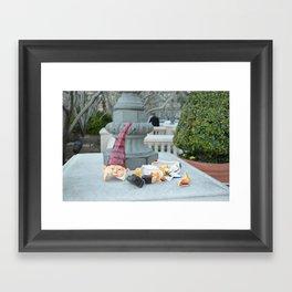Shattered Travel Gnome Framed Art Print