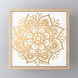 Gold Mandala Framed Mini Art Print