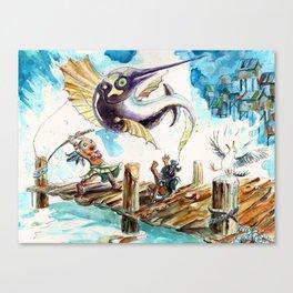 Swordfishing Canvas Print