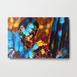 The Genius of Miles - African American Jazz Trumpeter portrait Metal Print