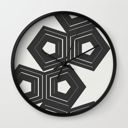Abstract Pattern Polygon #society6 #decor #buyart Wall Clock