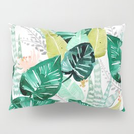 Tropical jungle white Pillow Sham