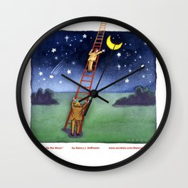 Reaching for the Moon Wall Clock