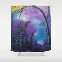 Blissful forest Shower Curtain