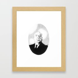 Sir Alfred Hitchcock Framed Art Print